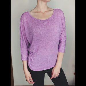 Pale Purple 3/4 Sleeve Sweater